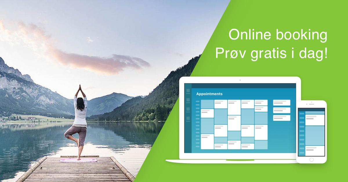 Prøv vår Online Booking 24/7 gratis idag!